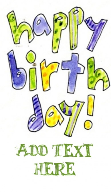 Happy BirthDay - RePix to add your text on this image
