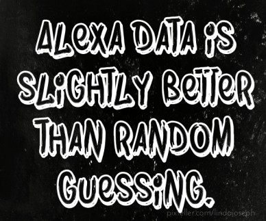 Alexa data is slightly better than random guessing.