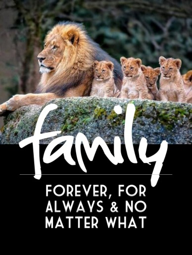 Family forever, for always & no matter what