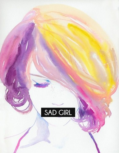 Sad girl - RePix and write your message here