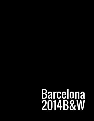 Barcelona 2014b&w
