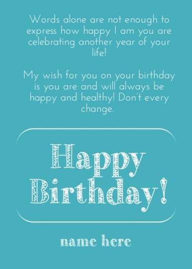 Create birthday card with PixTeller - RePix to change the text