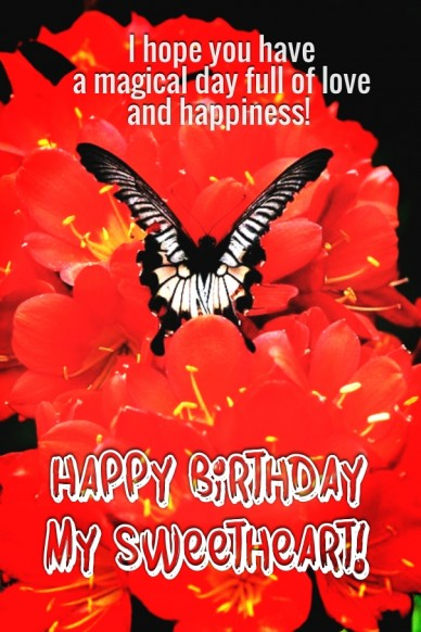 I hope you have a magical day full of love and happiness! Happy Birthday my sweetheart!