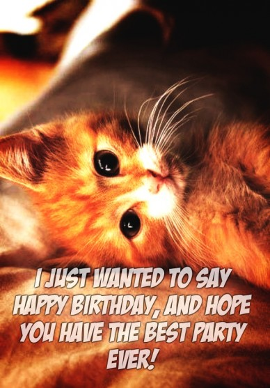 I just wanted to say happy birthday, and hope you have the best party ever!