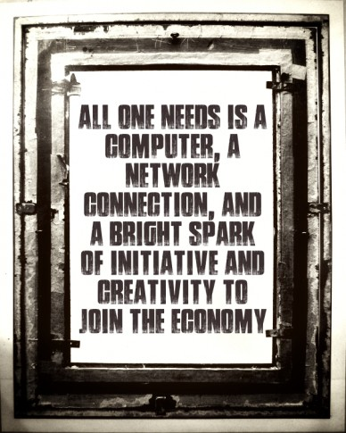 All one needs is a computer, a network connection, and a bright spark of initiative and creativity to join the economy