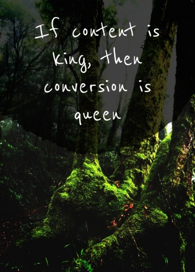 If content is king, then conversion is queen