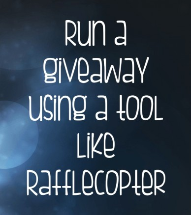 Run a giveaway using a tool like rafflecopter