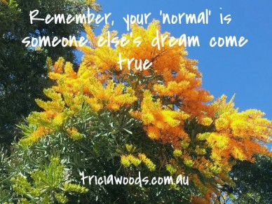 Remember, your 'normal' is someone else's dream come true triciawoods.com.au