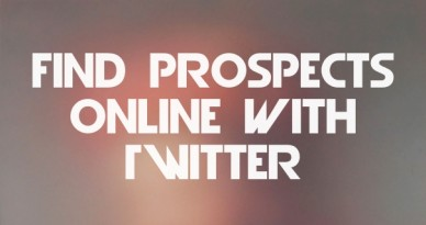 Find prospects online with twitter