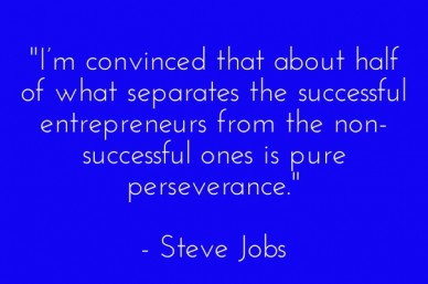 """i'm convinced that about half of what separates the successful entrepreneurs from the non-successful ones is pure perseverance."" - steve jobs"