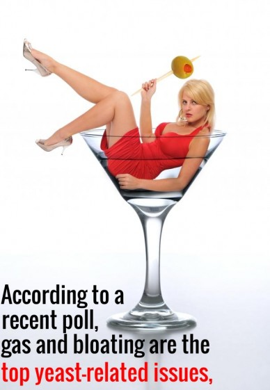 According to a top yeast-related issues, gas and bloating are the recent poll,