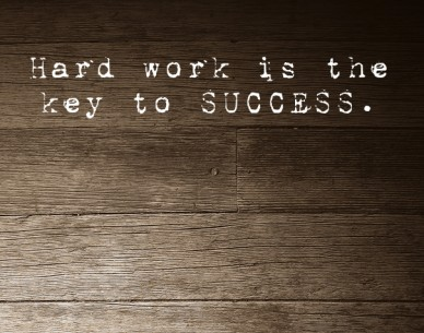 Hard work is the key to success.