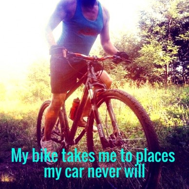 My bike takes me to places my car never will