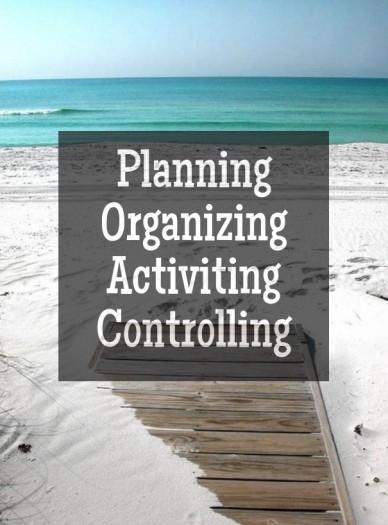 Planning organizingactivitingcontrolling