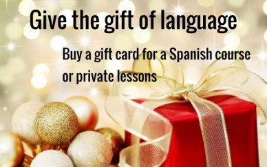 Buy a gift card for a spanish course or private lessons give the gift of language
