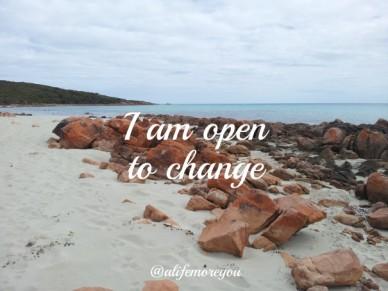 I am open to change @alifemoreyou