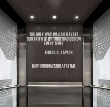 The only way we can elevate our faith is by trusting god on every level teresa s. taylor inspiringonesoulatatime
