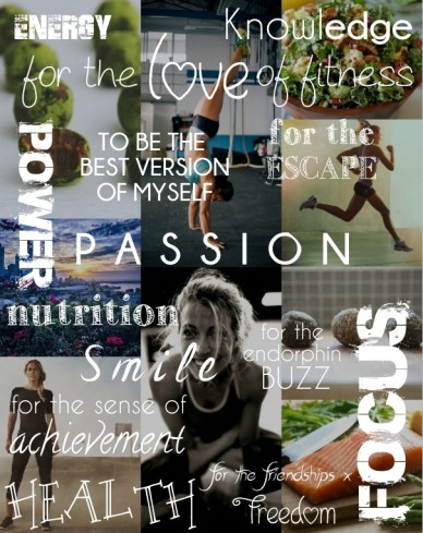 For the escape for the sense of achievement smile energy nutrition power for the endorphin buzz freedom to be the best version of myself