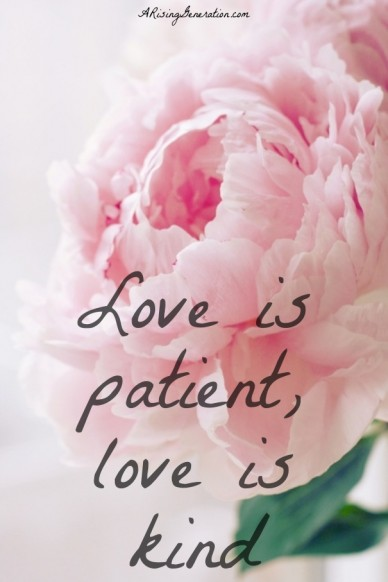 Love is patient,love iskind arisinggeneration.com