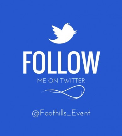 Follow me on twitter @foothills_event