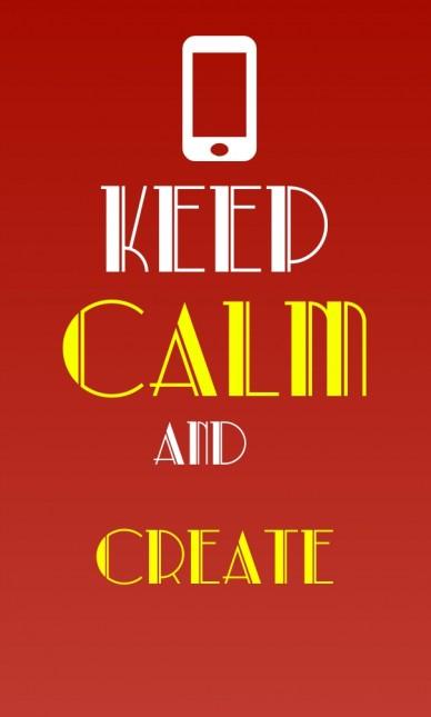 Keep calmand create