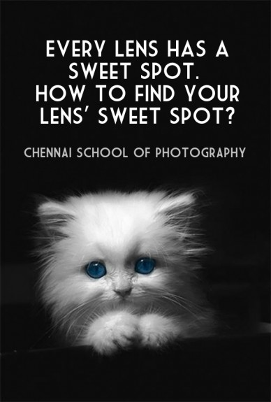 Every lens has a sweet spot. how to find your lens' sweet spot? chennai school of photography