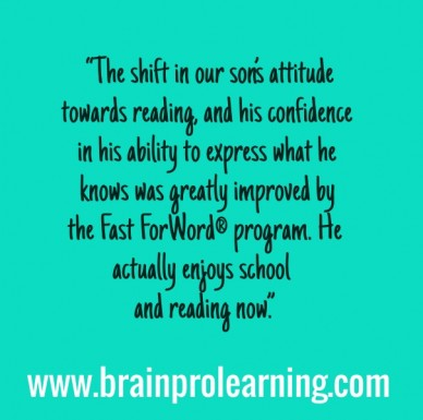 """the shift in our son's attitude towards reading, and his confidence in his ability to express what he knows was greatly improved by the fast forword® program. he actually enj"