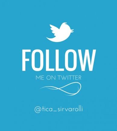 Follow me on twitter @tica_sirvarolli