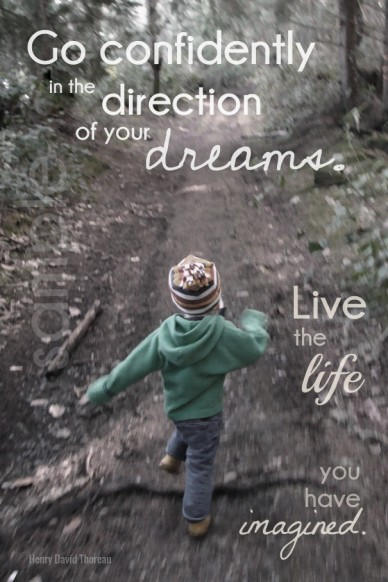 Go confidently henry david thoreau in the dreams. of your live life direction you have imagined. the sample