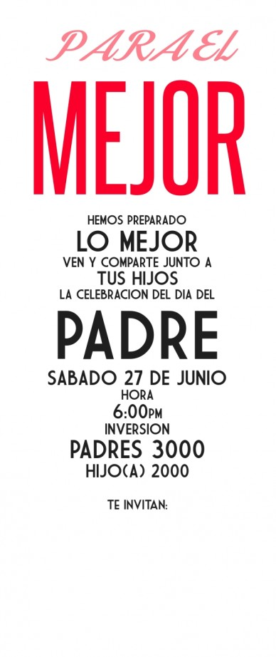 Invitacion papas