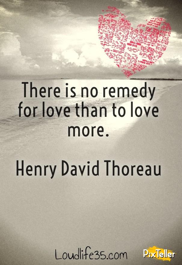 henry david thoreau on love