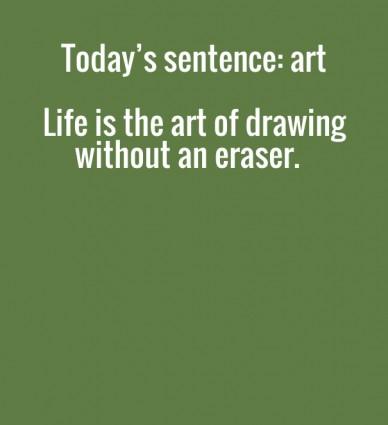 art sentence