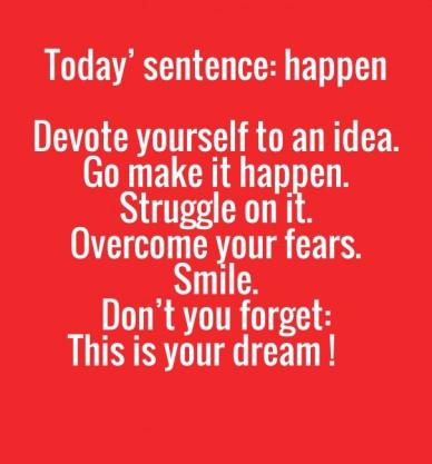 happen sentence
