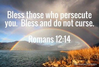 Bless those who persecute you. bless and do not curse. romans 12:14