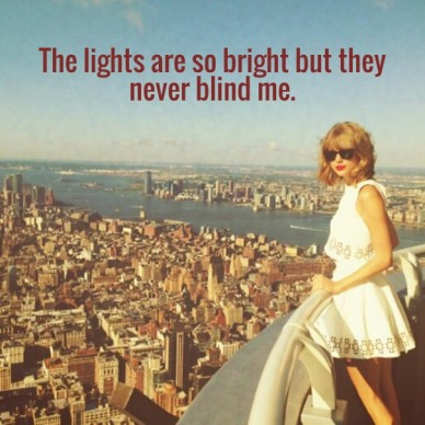 The lights are so bright but they never blind me.
