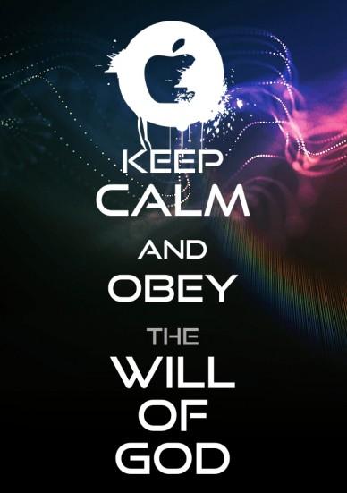 Keep calmandobeythewill of god