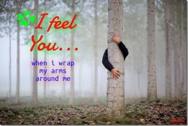 I feel you... when i wrap my arms around me maani