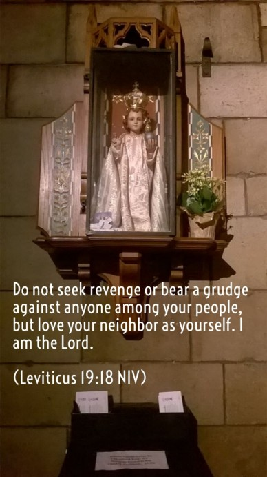 Do not seek revenge or bear a grudge against anyone among your people, but love your neighbor as yourself. i am the lord. (leviticus 19:18 niv)