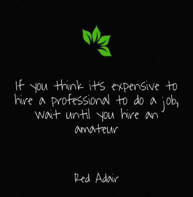 If you think it's expensive to hire a professional to do a job, wait until you hire an amateur red adair