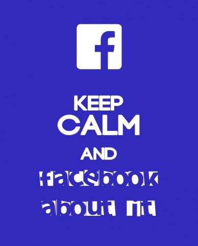 Keep calmandfacebookabout it