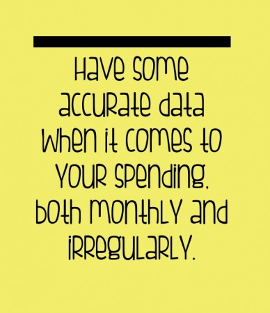 Have some accurate data when it comes to your spending, both monthly and irregularly.