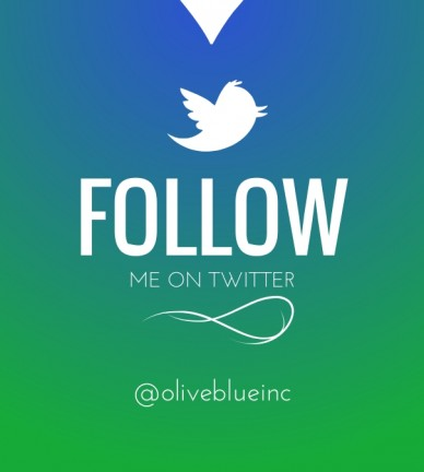 Follow me on twitter @oliveblueinc