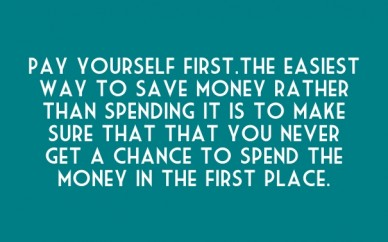 Pay yourself first.the easiest way to save money rather than spending it is to make sure that that you never get a chance to spend the money in the first place.
