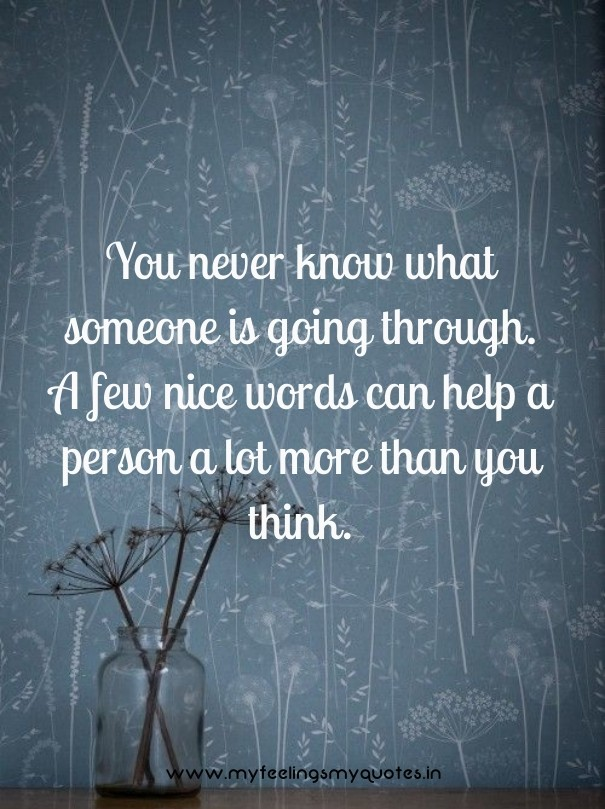 nice words for someone