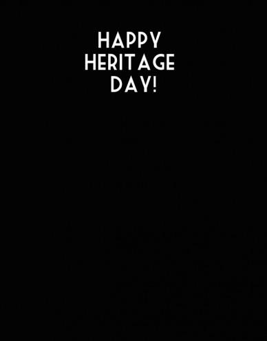 Happy heritage day!