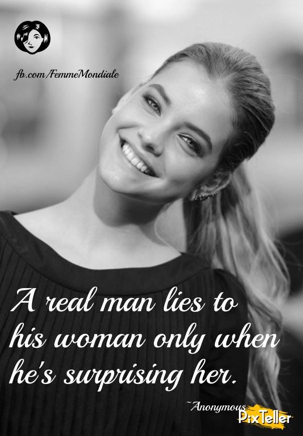 when a man lies to a woman