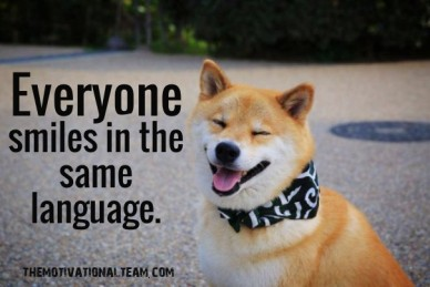 Everyone smiles in the same language. themotivationalteam.com