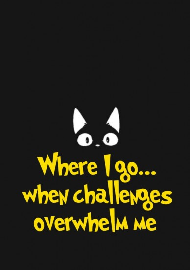 Where i go... when challenges overwhelm me