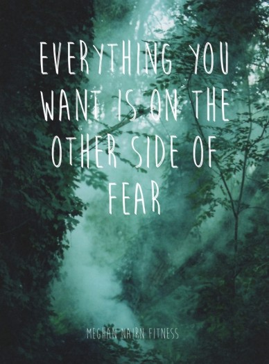 Everything you want is on the other side of fear meghan nairn fitness