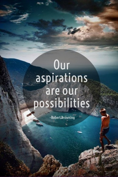 Our aspirations are our possibilities –robert browning